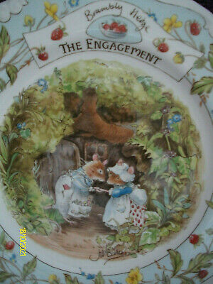 £10.75 • Buy Royal Doulton Brambly Hedge 8ins  Bone China Plate The Engagement 1st Quality