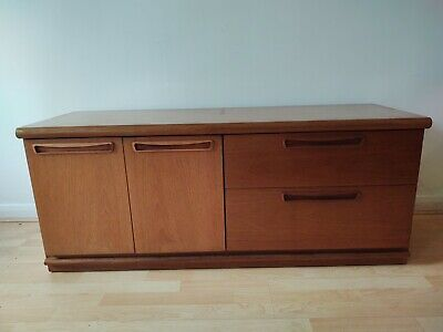 £95 • Buy LARGE MID CENTURY SIDEBOARD RECORD CABINET STORAGE IN TEAK 60s 70s