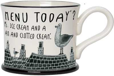 £17.25 • Buy  What's On The Menu Today? Mug By Moorland Pottery, Kernow Ware