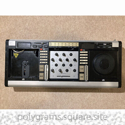 £69 • Buy Vintage DJ Mixer 2 Channel Digital Dual CD Player Amplified Mixer For Parts