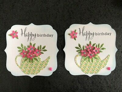 £2.75 • Buy Luxury Birthday Flower Filled Teapot Card Toppers (R3)