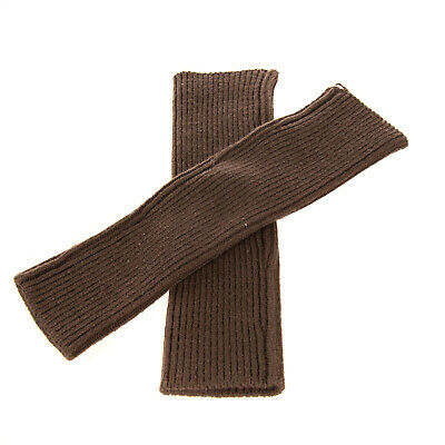 AU36.77 • Buy Fingerless Gloves / Hand Warmers One Size Ribbed Knit Elbow Length