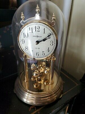 £30.50 • Buy Howard Miller Anniversary Clock Glass Dome 12 . Perfect!! Dual Chime