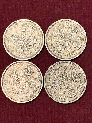 £3.95 • Buy Sixpence 6d Coin Great Britain 1961 1962 1965 1966 Elizabeth II #6