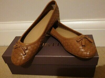 £29.99 • Buy Carvela Luggage Tan Leather Flat Pumps - New In Box. Size 5 (38)