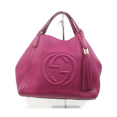 AU559.49 • Buy Gucci Hand Bag  Hot Pink Leather 2208029