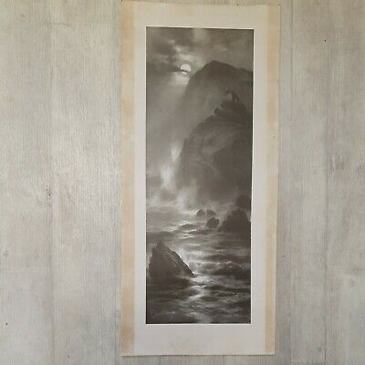£50 • Buy Striking Ominous Elmer Keene Large Mounted Lithograph Signed Landscape Spooky