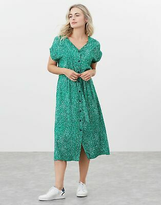 £32.95 • Buy Joules Womens Yasmine Button Through V Neck Dress - Green Speckle