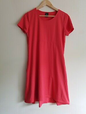 AU15.63 • Buy Gap Maternity Size M Short Sleeve T-shirt Dress With Pockets - Coral
