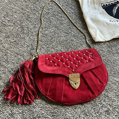 £10 • Buy ASPINAL OF LONDON Red Quilted Top Handle Chain Bag Handbag