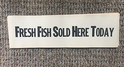 £5.77 • Buy Vintage Stage Magic Props Fresh Fish Sold Here Today 30 Banners Torn & Restored