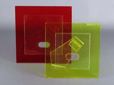 AU62.01 • Buy 2 Vintage Photo Table IN Lucite Colorful Modern Antiques Design 1970
