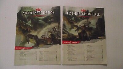 AU29.95 • Buy D&D Starter Set Rulebook Plus Lost Mine Of Phandelver 5th Edition- Free Tracking