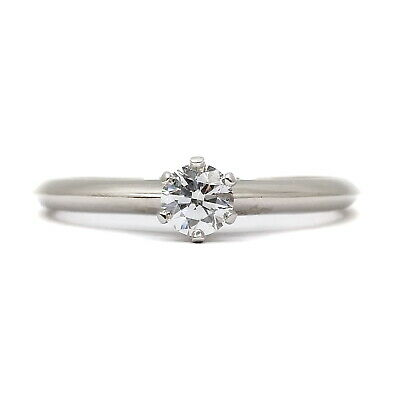 AU210.31 • Buy Tiffany And Co. Ring  Solitaire Diamond 0.26ct Platinum 1815087