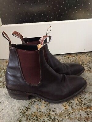 AU145 • Buy RM Williams Chestnut Brown Leather Boots Size 7G (ladies 10)