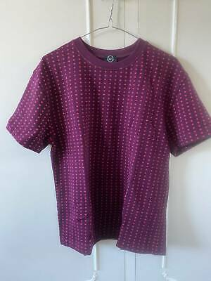 AU80 • Buy Alexander McQueen Maroon With Pink Crosses Womens Top, Size M, New