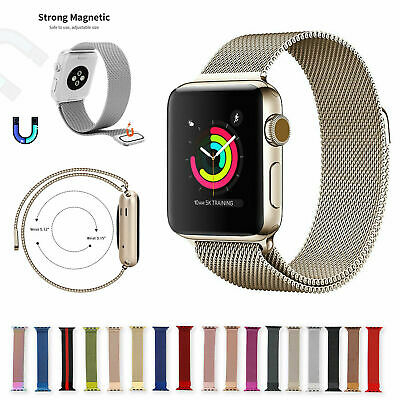 AU14.16 • Buy For Apple Watch Series 6 5 4 3 2 1 44mm 40 42 38 Milanese Loop Band Iwatch Strap