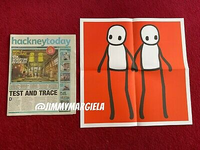 £90 • Buy Stik Hackney Today Art Print RED Limited Edition Poster 2020