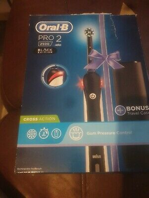 AU1.82 • Buy Braun Oral-B PRO 2 2500 Electric Toothbrush Rechargeable Power - Black Edition