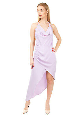 AU73.54 • Buy RRP €1605 HANEY Silk Cocktail Dress Size 10 / L Wrap Effect Strappy Made In USA