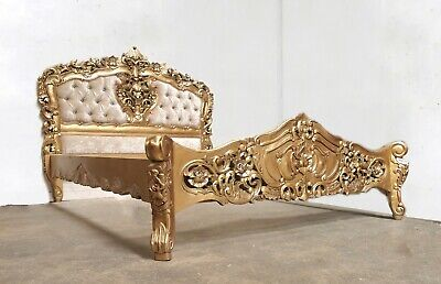£679 • Buy Rococo Kingsize Rococo Bed Gold Hand Made Brand New