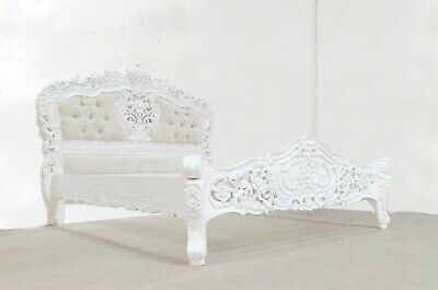 £679 • Buy Rococo Kingsize Rococo Bed White Hand Made Brand New