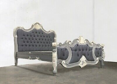 £679 • Buy Rococo Kingsize Palais Bed French Grey And White Hand Made Brand New Shabby Chic