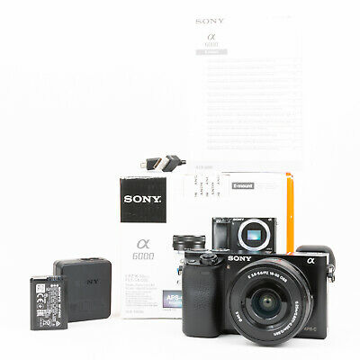 View Details Sony Alpha A6000 Mirrorless Camera + 16-50mm Lens - Boxed - 2,224 Shots - EXC • 375£