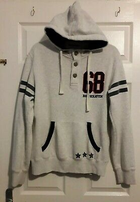 £13.99 • Buy Size Large Mens Varsity Hoodie / Hoody With Double Pocket
