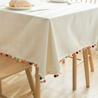 AU17.72 • Buy Decor Cotton And Linen Tablecloth Top Kitchen Dining Table Cover Tea Table Cloth