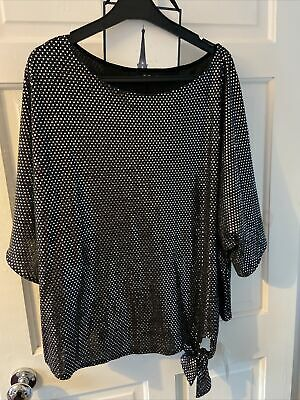 £6.99 • Buy Ladies Shiny Silver Top Size 18 New