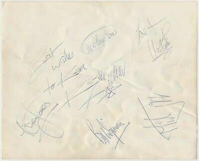 £297.50 • Buy Rolling Stone VINTAGE 1964 FULL SET OF ALL 5 MEMBERS AUTOGRAPHS ON A NICE PHOTO!