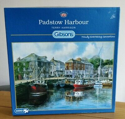 £6.99 • Buy Gibsons Padstowe Harbour 1000 Piece Jigsaw Puzzle By Terry Harrison COMPLETE