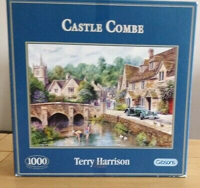 £6.99 • Buy Gibsons 1000 Piece Jigsaw Puzzle Title Castle Combe By Terry Harrison Complete