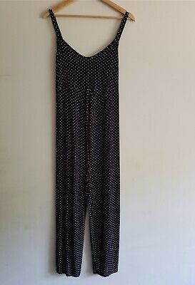 £8.50 • Buy BooHoo Maternity Size 14/EUR 42 Strappy Polka Dot Stretchy Jumpsuit Playsuit