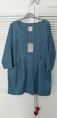 £3.50 • Buy Mistral Ladies Blue Tunic Top Size 18 BNWT