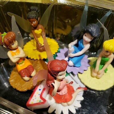 £9.43 • Buy 5 DISNEY TINKER BELL DECOPAC CAKE TOPPER 3 In Figurines With S Unique Stamp
