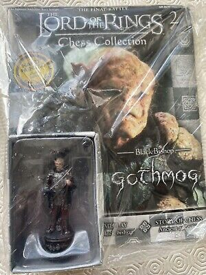 £15.50 • Buy Eaglemoss LOTR Lord Of The Rings Chess Set Piece Black Bishop Gothmog Unopened