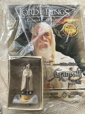 £15.50 • Buy Eaglemoss LOTR Lord Of The Rings Chess Set Piece White Bishop Gandalf Unopened