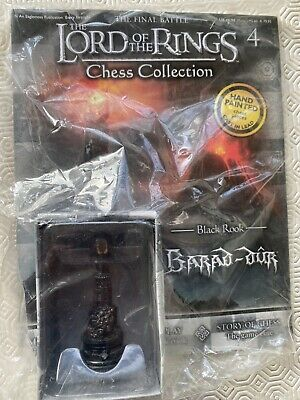 £15.50 • Buy Eaglemoss LOTR Lord Of The Rings Chess Set Piece Black Rook Barad-Dur Unopened