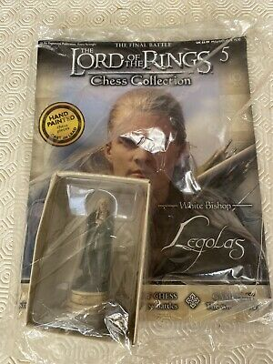 £15.50 • Buy Eaglemoss LOTR Lord Of The Rings Chess Set Piece White Bishop Legolas Unopened