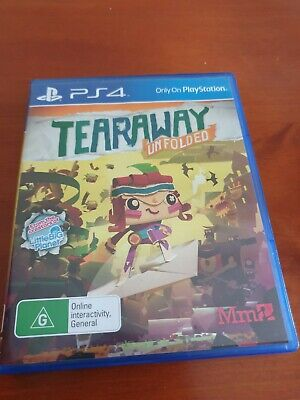 AU22.99 • Buy TEARAWAY Game For PS4 (Pal, 2015) VGC, FREE TRACKED POST PLAYSTATION 4
