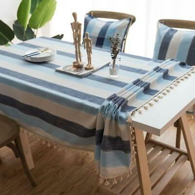 AU7.32 • Buy Stripe Waterproof Kitchen Table Cloth Tablecloth Rectangular Dining Table Cover