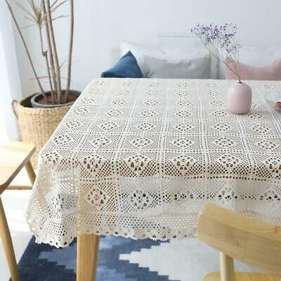 AU14.85 • Buy Hollow Decorative Table Cloth New Lace Tablecloth Rectangular Dining Table Cover