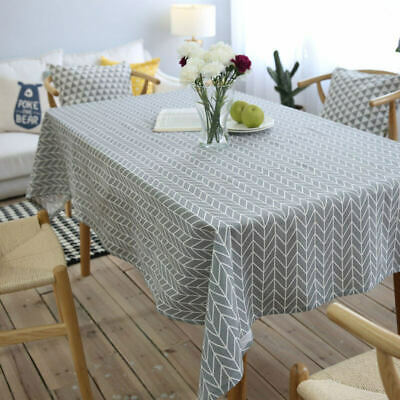 AU7.26 • Buy Table Cloth Cotton Linen Tablecloth Rectangular Dining Table Decorative Cover