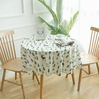 AU24.17 • Buy Decor Table Cloth Cotton Linen Tablecloth Round Tablecloths Dining Table Cover