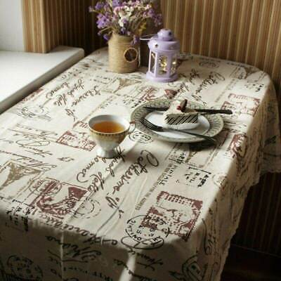AU7.94 • Buy Table Cloth Top Cotton Linen Lace Dining Table Cover For Kitchen Home Decoration
