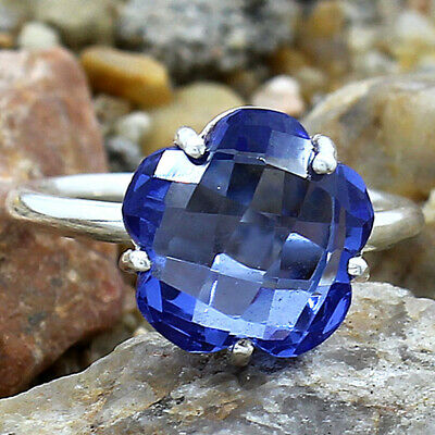 £11.20 • Buy Tanzanite Simulated 925 Sterling Silver Ring S.7.5 Jewelry E584