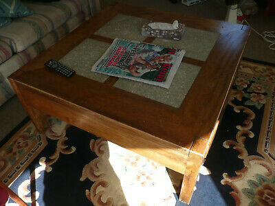 £29 • Buy Large Coffee Table Unique, Marble Top, Solid Wood