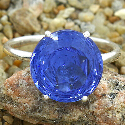 £10.97 • Buy Tanzanite Simulated 925 Sterling Silver Ring S.8.5 Jewelry E327